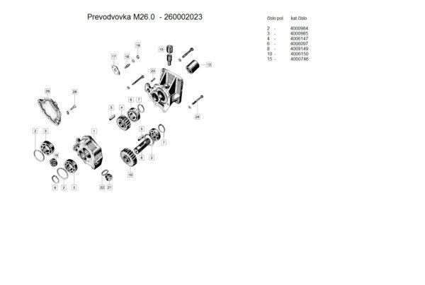 prevodovka 260002023